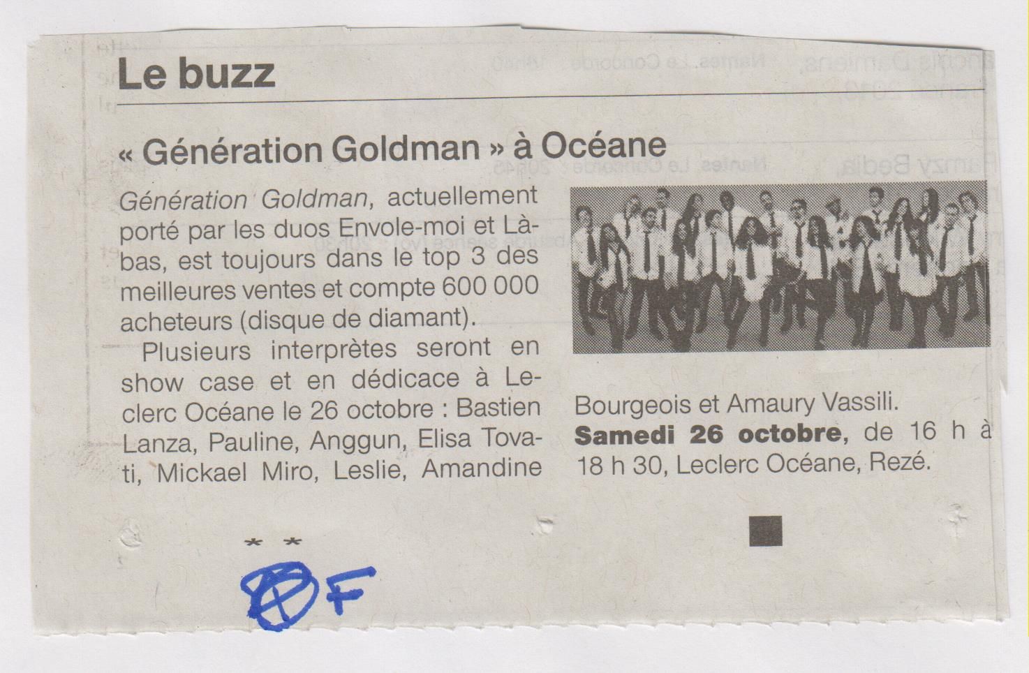 17.10.2013 - OUEST FRANCE GENERATION GOLDMAN 2