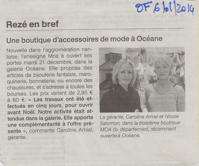 06.01.2014 - OUEST FRANCE - MOA