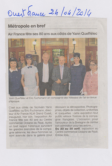 24.04.2014 - OUEST FRANCE - AIR FRANCE