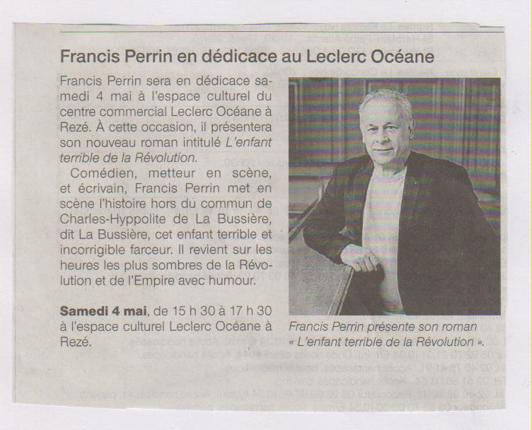 29.04.2013 - FRANCIS PERRIN - OUEST FRANCE