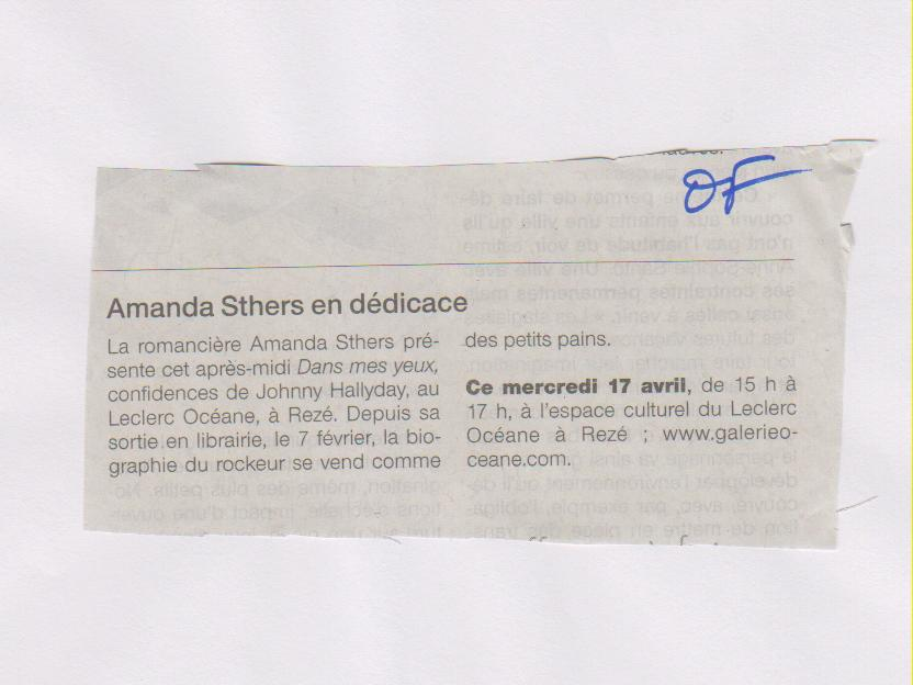 OUEST FRANCE - AMANDA STHERS 17-04-2013