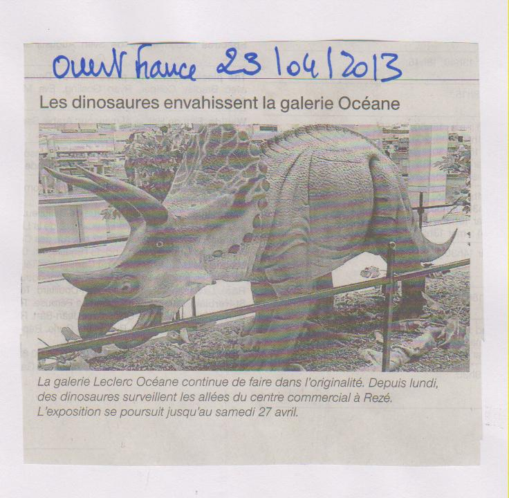 OUESTFRANCE - 23-04-2013 - JURASSIC PARK